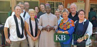 Die Kevelaerer Ehrenamtlichen wurden in Benin herzlich empfangen.