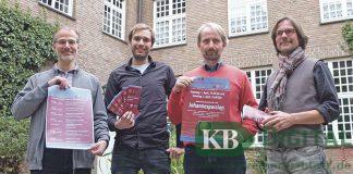 Organist Viktor Fischer, Basilikakantor Sebastian Piel, Chordirektor Romano Giefer und Basilikaorganist Elmar Leenen (v.l.) haben ein umfangreiches und anspruchsvolles Programm zusammengestellt.