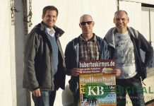 Dominik Lemken, Hans Kannenberg und Stephan Winkels haben bei der Vorbereitung der Hubertuskirmes die gesamte Gilde hinter sich.