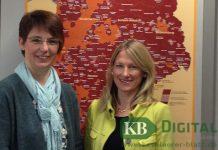 Die neuen LEADER-Regionalmanagerinnen Simone Schönell (re.) und Ute Neu sind mit der Geschäftsstelle im Gelderner Gründerzentrum Ansprechpartner für Projekte aus der Region – für die Region.