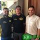 KSV-Trainer Ferhat Ökce (l.) und Sportlicher Koordinator Sandro Scuderi (r.) erhalten in der neuen Saison Unterstützung durch Marcel Kempkes (m.). (Foto: Kevelaerer SV)