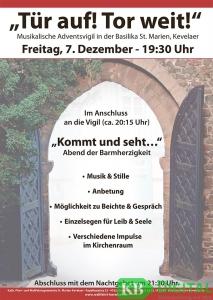 Das Werbeplakat zur Adventsvigil (Grafik: St. Marien)