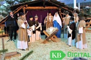 Krippenspiel zur Eröffnung des Kevelaerer Advents- und Krippenmarktes (Foto: aflo)