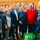 Die Teilnehmer der Mitgliederversammlung der SPD Kevelaer mit den Gästen Ina Spanier-Oppermann und Prof. Dr. Hasan Alkas.