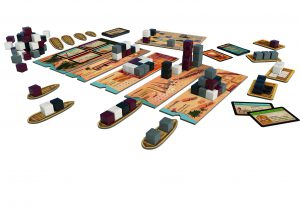 Imhotep hat hübsches Spielmaterial (Grafik: Verlag)