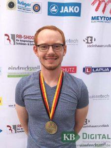 Alexander Thomas, Bundesliga-Schütze der SSG – Kevelaer belegte mit dem Luftge-wehr bei starker Konkurrenz den dritten Platz bei der Deutschen Meisterschaft. (Foto: SSG)
