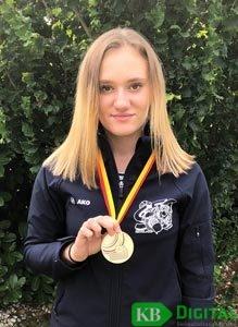 Alison Bollen gewinnt Bronze im Kleinkaliber 3x20-Wettkampf. (Foto: privat)