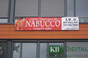Banner für Nabucco - mit kreativer Schreibweise
