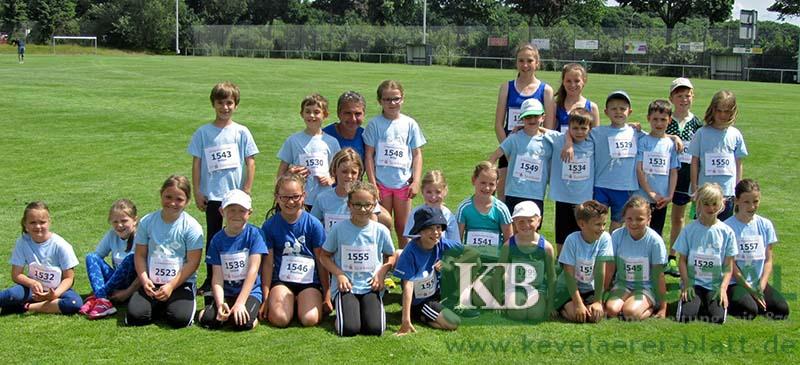 Die 25 jungen Leichtathleten des KSV