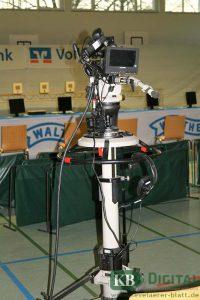 Modernste Kameratechnik kommt bei der Übertragung zum Einsatz.