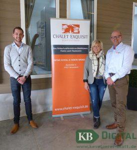 Artur Scholl, seine Frau Susanne und Simon Grigoleit (v.re.) wollen, dass die Kunden in den, nach ihren Wünschen gestalteten Mobilheimen ankommen und sich wohlfühlen.