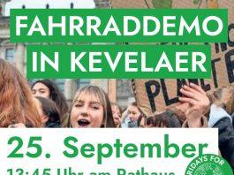 Fridays For Future Kevelaer lädt am Welt-Klimaaktionstag zur Fahrraddemo ein.