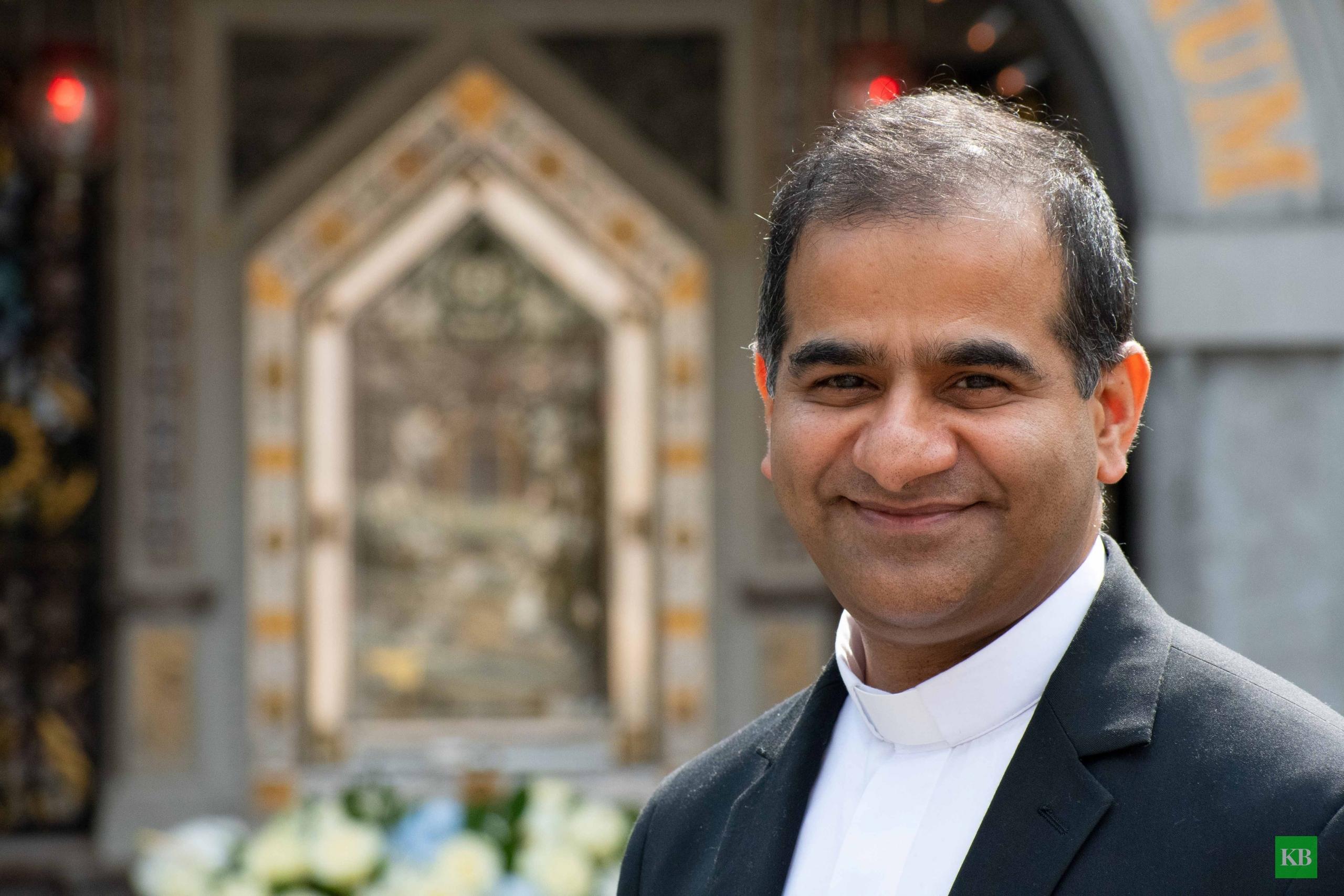 Pater Benny Valloor stammt aus der Provinz Kerala im Süden Indiens. Foto: Bischöfliche Pressestelle / Christian Breuer
