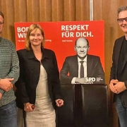 .: Bürgermeister Dominik Pichler, Katja Plenzdorf-Weber, Bodo Wißen